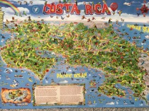 Cute map of Costa Rica at Poas volcano park