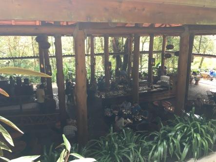 Inside treetop grill