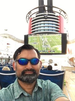 football on the deck